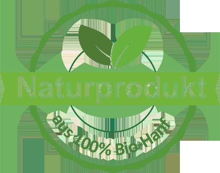 Naturprodukt aus 100% Bio-Hanf
